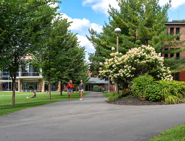 Summer scenic on campus