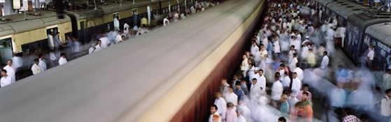 Metro scene in Mumbai