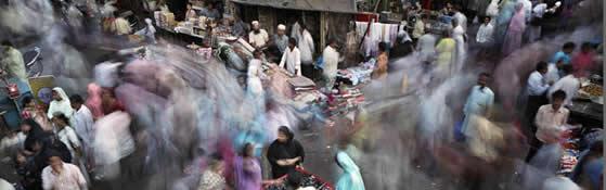 Busy streets in Mumbai
