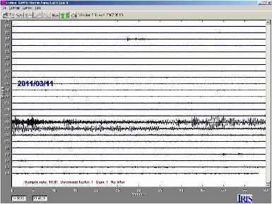 Japan Quake recording