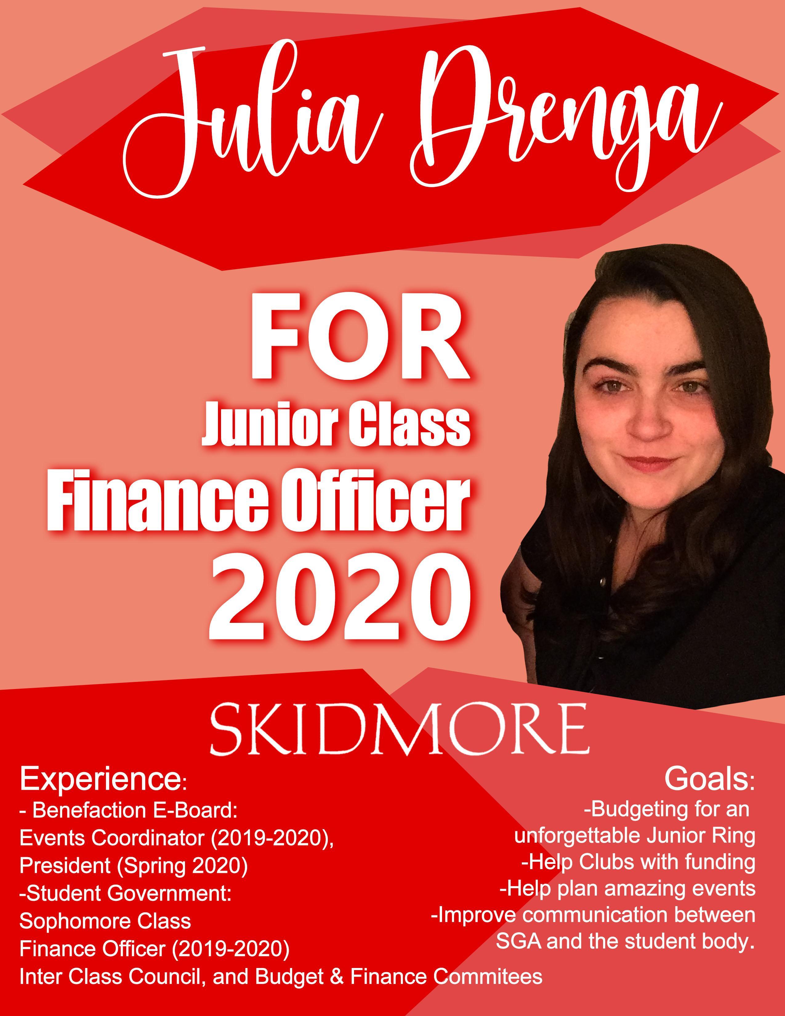 Julia%20Drenga%20for%20Junior%20Class%20Finance%20Officer