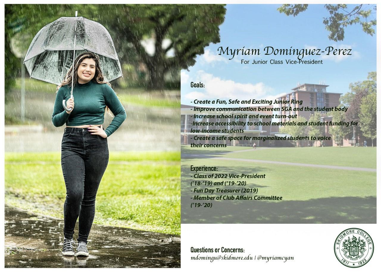 Myriam%20Dominguez-Perez%20for%20Junior%20Class%20Vice%20President