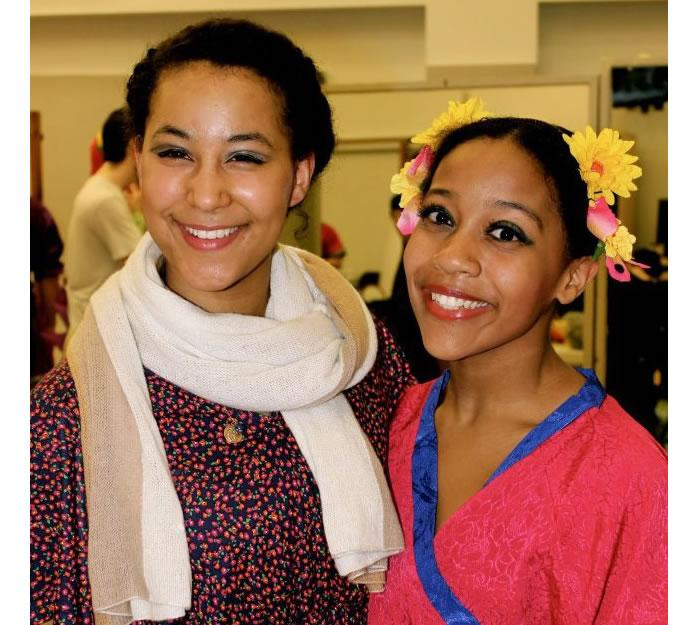 Anastasia Eckerson '15 (on left), a Dance major and Gender Studies minor, is combining a dance intensive at Deeply Rooted Dance Theater in Chicago, IL, with a research project exploring the lived experience of black women through dance.