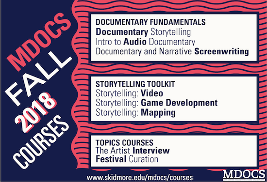 2018 Fall MDOCS Courses