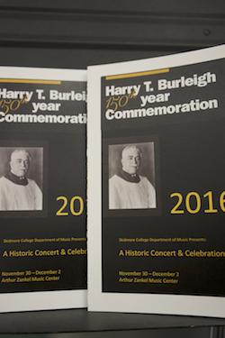 Harry T. Burleigh exhibit