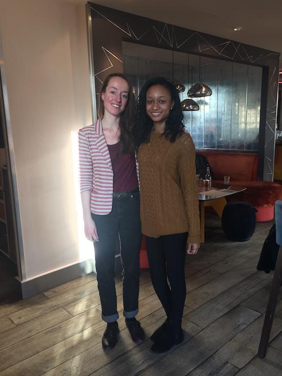 Gaelle Mourre and Yasmin Kudsi