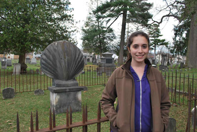 Sara+Gross+at+Greenridge+Cemetery