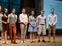 student vocalists at reunion 2012