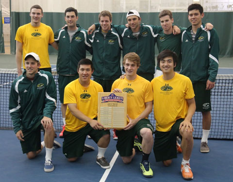 Liberty+League+title-winning+men%27s+tennis+team