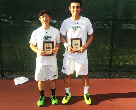 Nick+Tong+%E2%80%9916+%28L%29+and+Kai+Yuen+Leung+%E2%80%9917+with+their+USTA%2FITA+Northeast+Regional+Championship+plaques.+