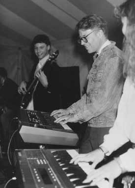 David Porter performs with students 1987