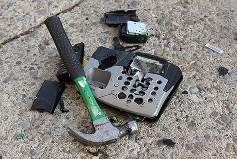 hammered+phone