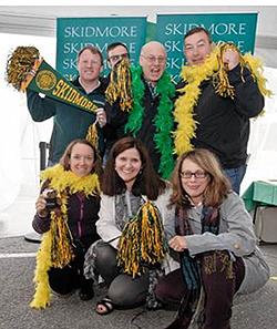 Volunteers lead the Spirit Weekend rally