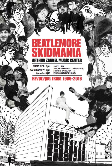 2016 Beatlemore Skidmania poster by Ben Cohen '17