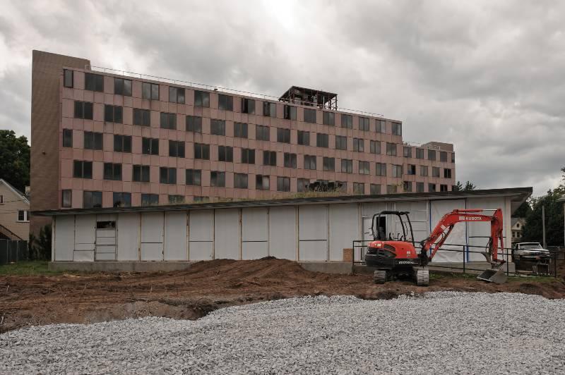 Moore Hall demolition