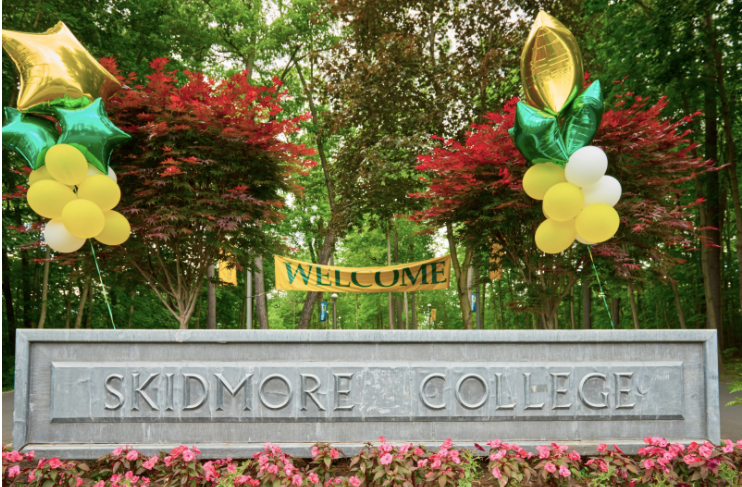 Skidmore College Welcome Sign