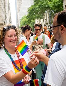 Megan Mercier at NYC pride parade