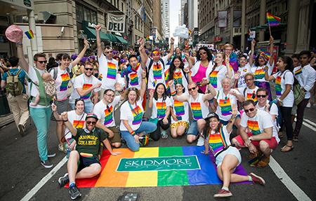 pride parade Skidm group