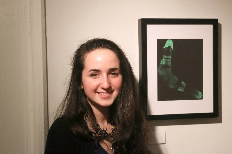 Perri Keehn at student art show