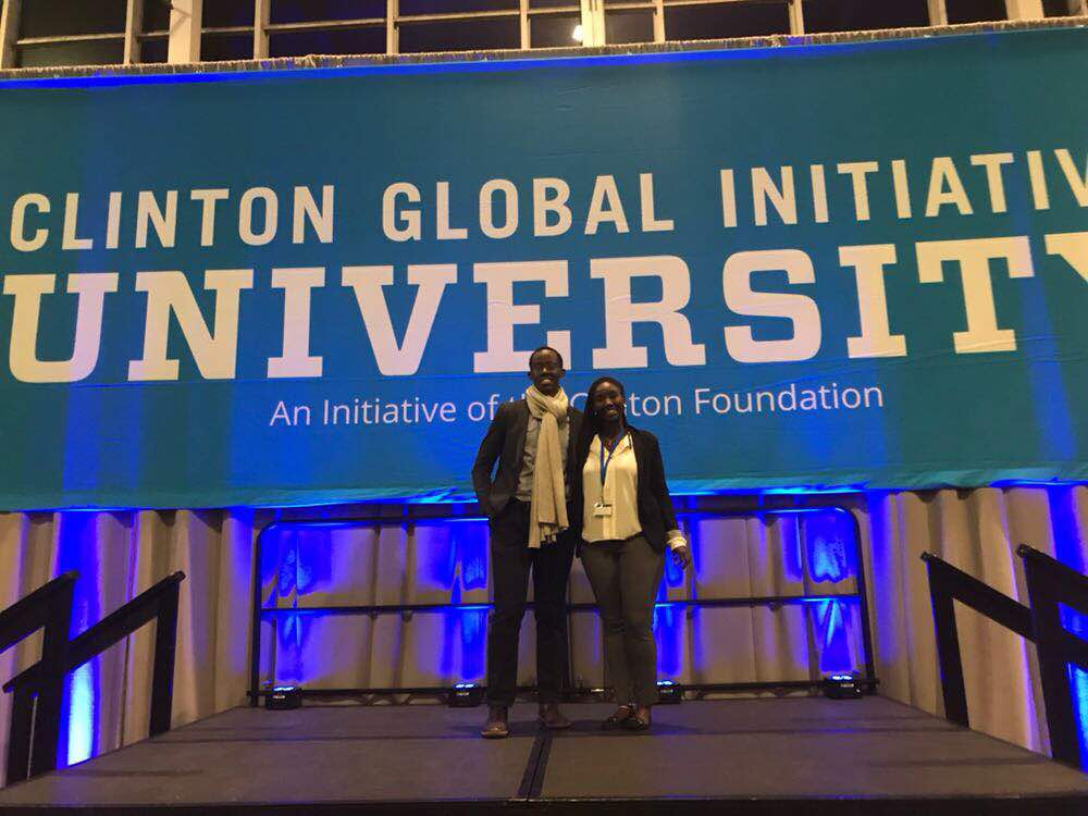 Muhire '18 and her business partner at CGI U