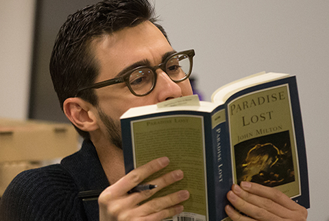 Prof.+Andrew+Bozio%2C+reading+Milton