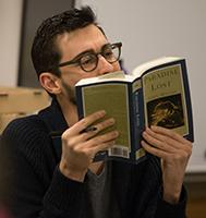 Prof. Andrew Bozio reading Milton
