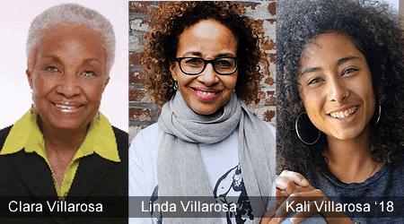 Clara, Linda, Kali Villarosa '18