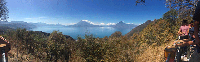 A panoramic view in Guatemala