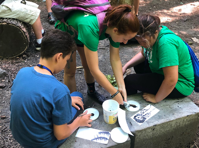 Students learn about trail systems