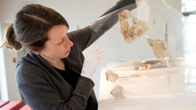 Heather Hurst assembles images of Mayan artifacts