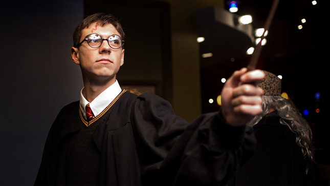 Student dressed as Harry Potter