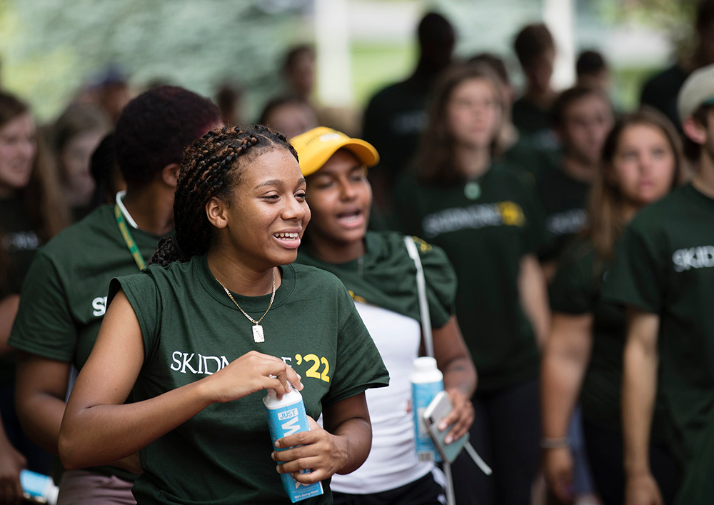 Class of 2022 students arrive at Convocation