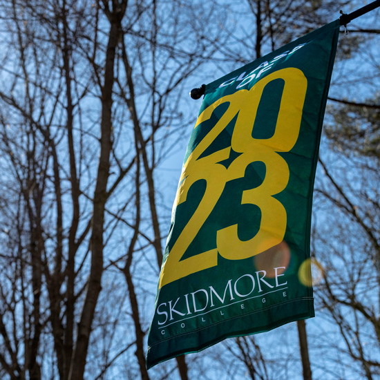 84728a56627 Banner+hangs+at+Skidmore+that+says+Class+of+