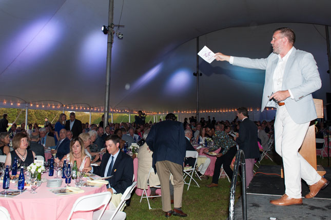 An auction at Polo by Twilight
