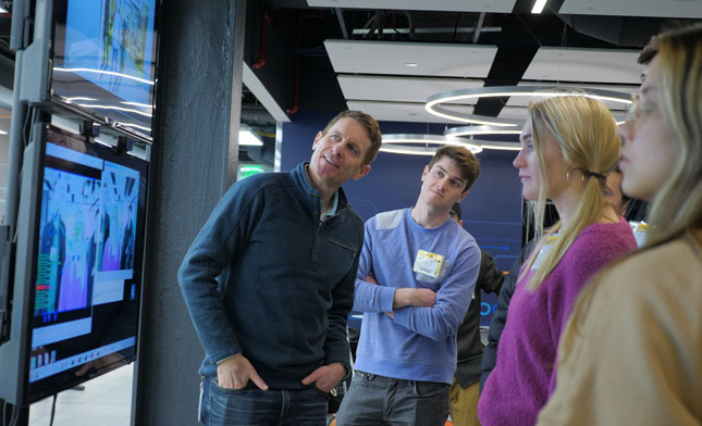 Skidmore students work with GE Global Research