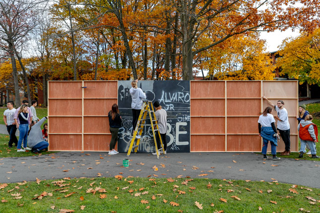 Construction of Skidmore's Berlin Wall