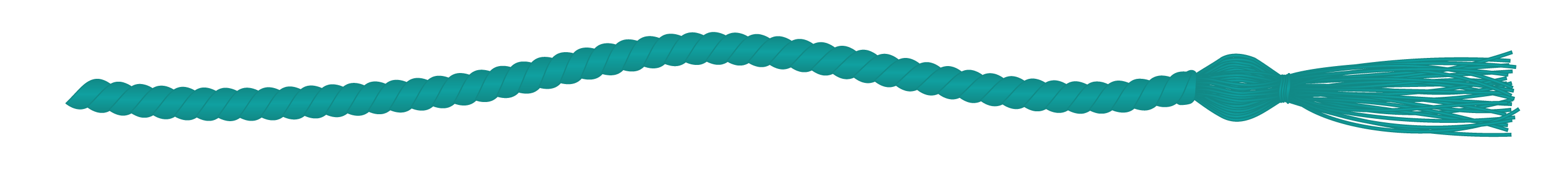 Teal commencement cord
