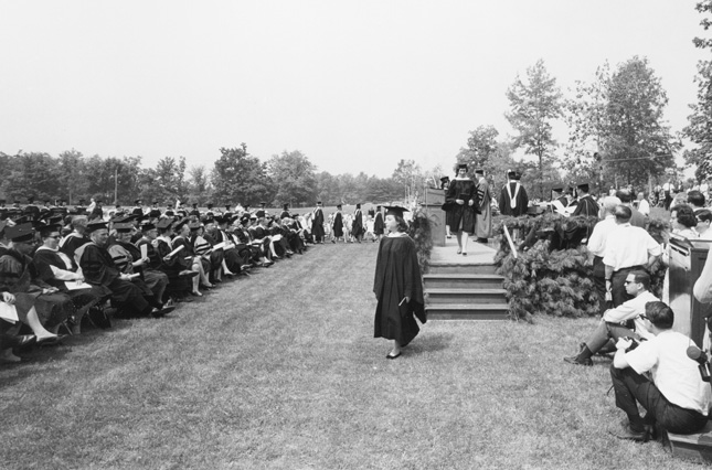 First Commencement on new campus, 1966
