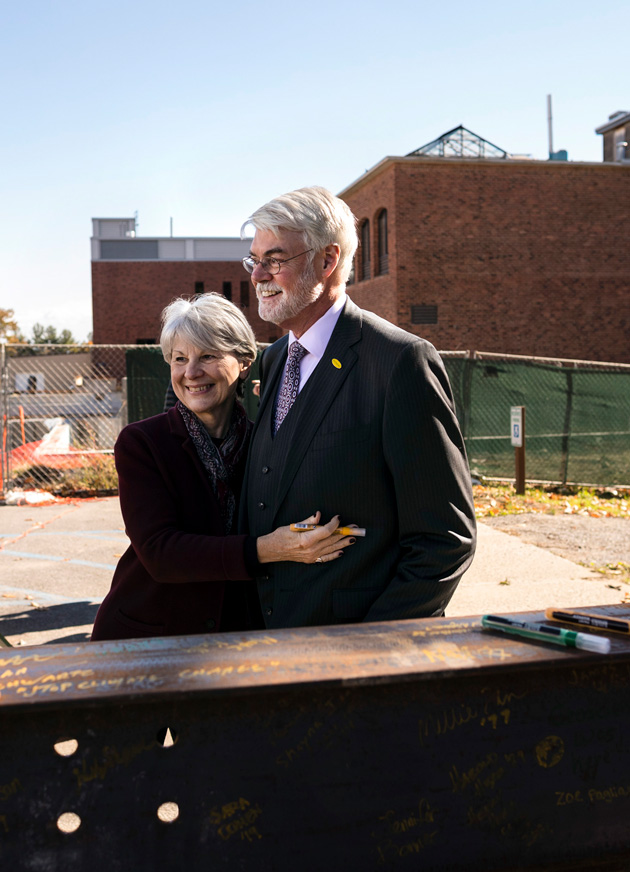 Phil and Marie Glotzbach at the CIS ground breaking ceremony