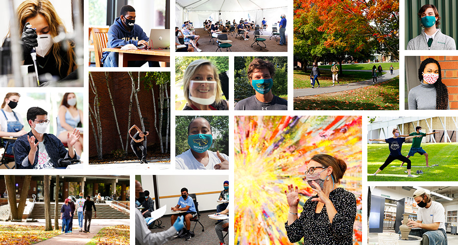 mosaic of people and moments at Skidmore College