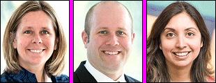 Kimberley Frederick, Steve Ives, Sara Lagalwar
