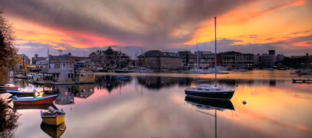 Woods Hole at sunset