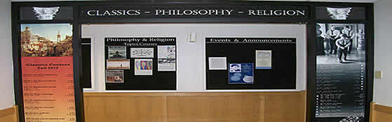 Classics, Philosophy, and Religion office entrance