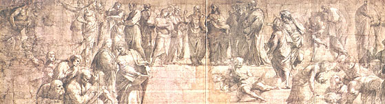 "Sketch for Raphael's ""School of Athens"""
