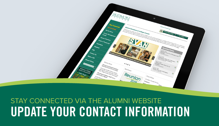 Stay Connected with Skidmore