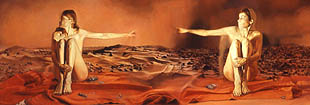 Anna Kaye, Chryse Planitia, 2004, oil on canvas, 36 x 108 inches