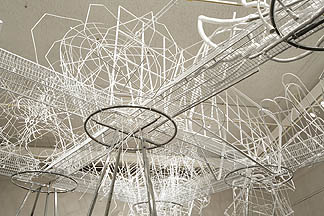Drawing In, 2006, view of site-specific installation in Schick Art Gallery