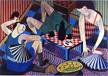 Big Fan, 2006, oil on canvas, 79 x 110 inches