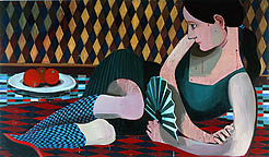 The Fan , 2006, oil on canvas, 48 x 79 inches