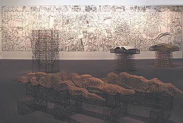 Installation Image - Schick Art Gallery, 2006, sticks, string, plastic